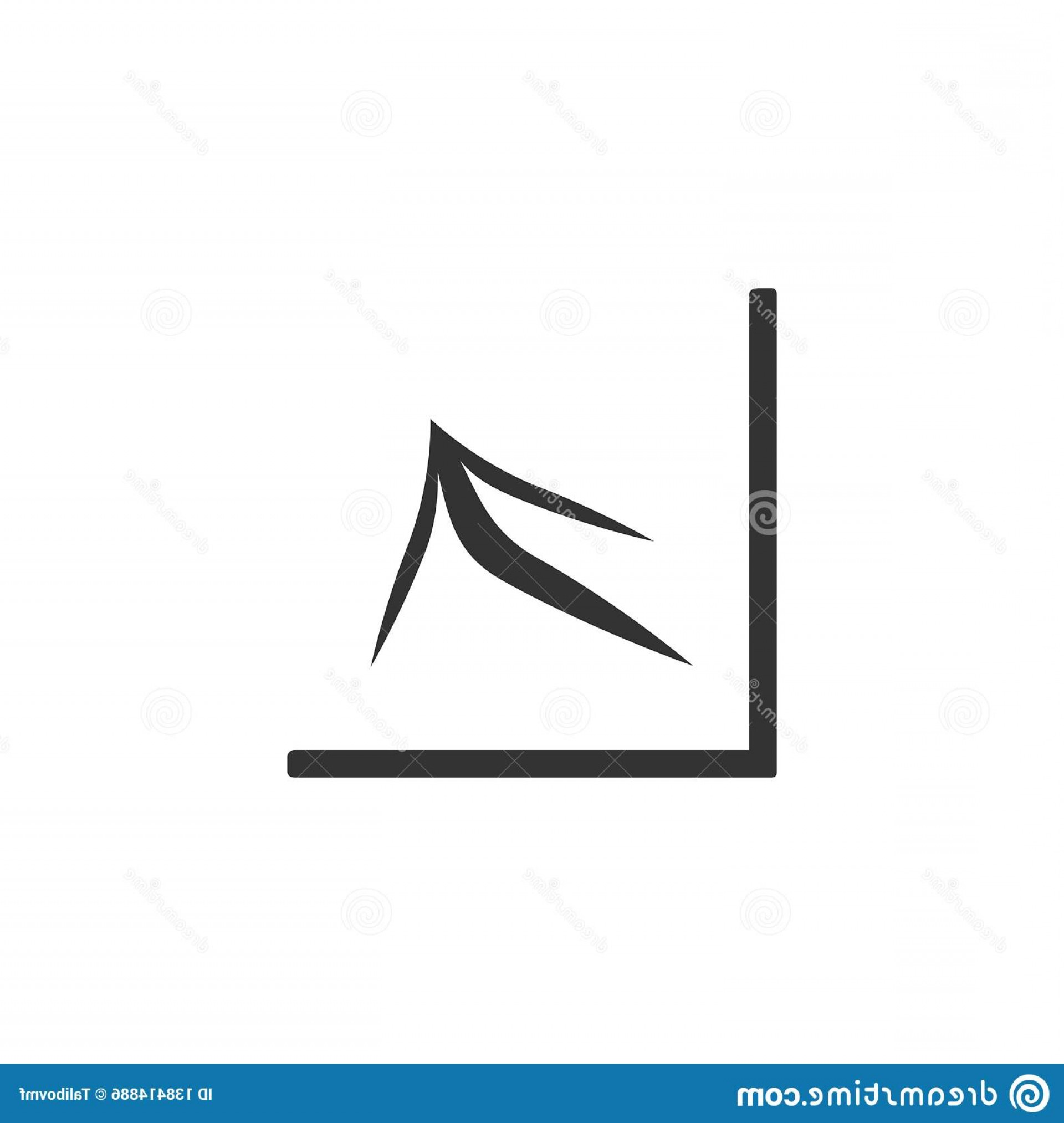 Bar Graph Icon Vector: Growing Bar Graph Icon Black White Background Vector Illustration Increase Image