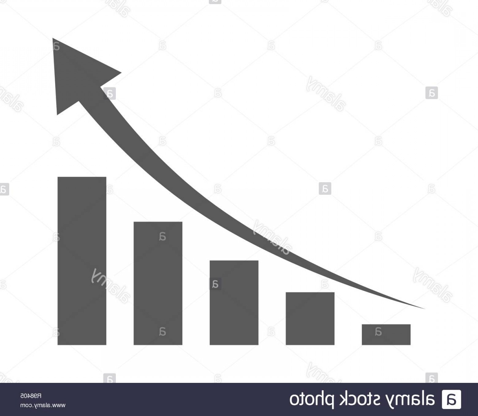 Bar Graph Icon Vector: Growing Bar Graph Icon With Rising Arrow Vector Illustration Financial Forecast Graph Black Graphic Icon Image