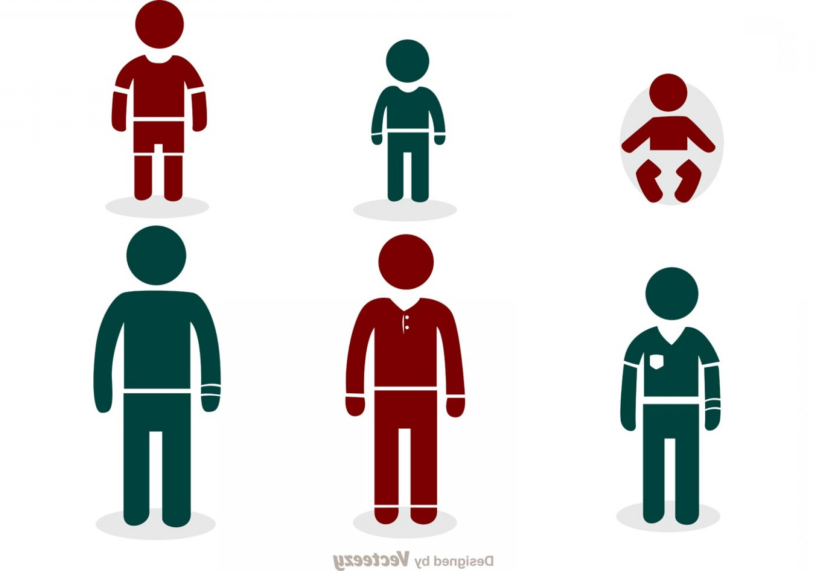 Growth Vector People: Growing Man Stick Figure Icons Vector Pack