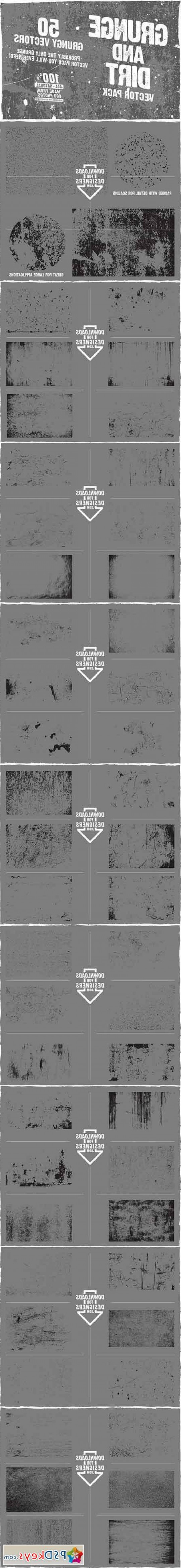 Grime Vector Pack: Grunge And Dirt Vector Pack