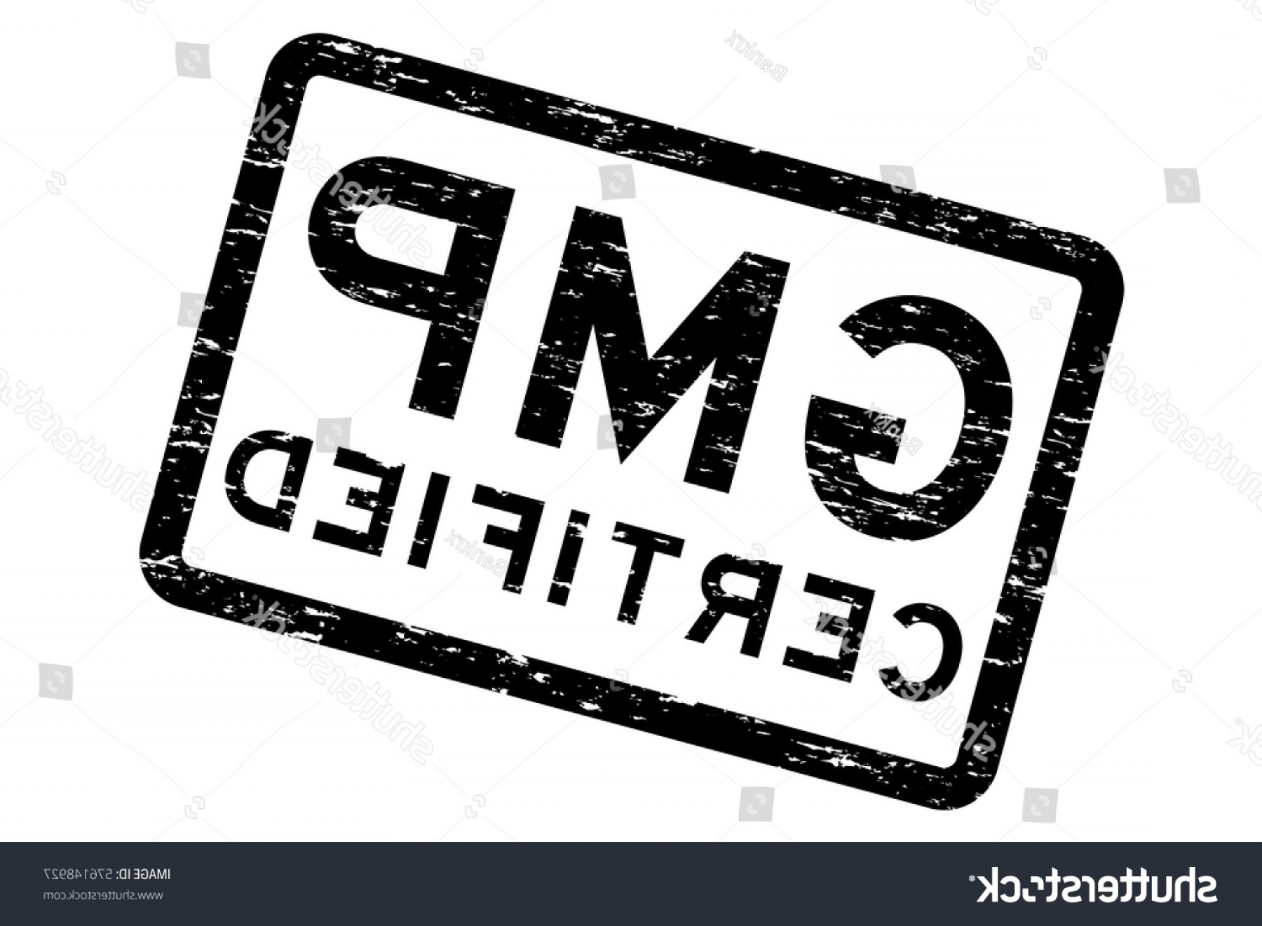 GMP Logo Vector: Grunge Black Gmp Good Manufacturing Practices