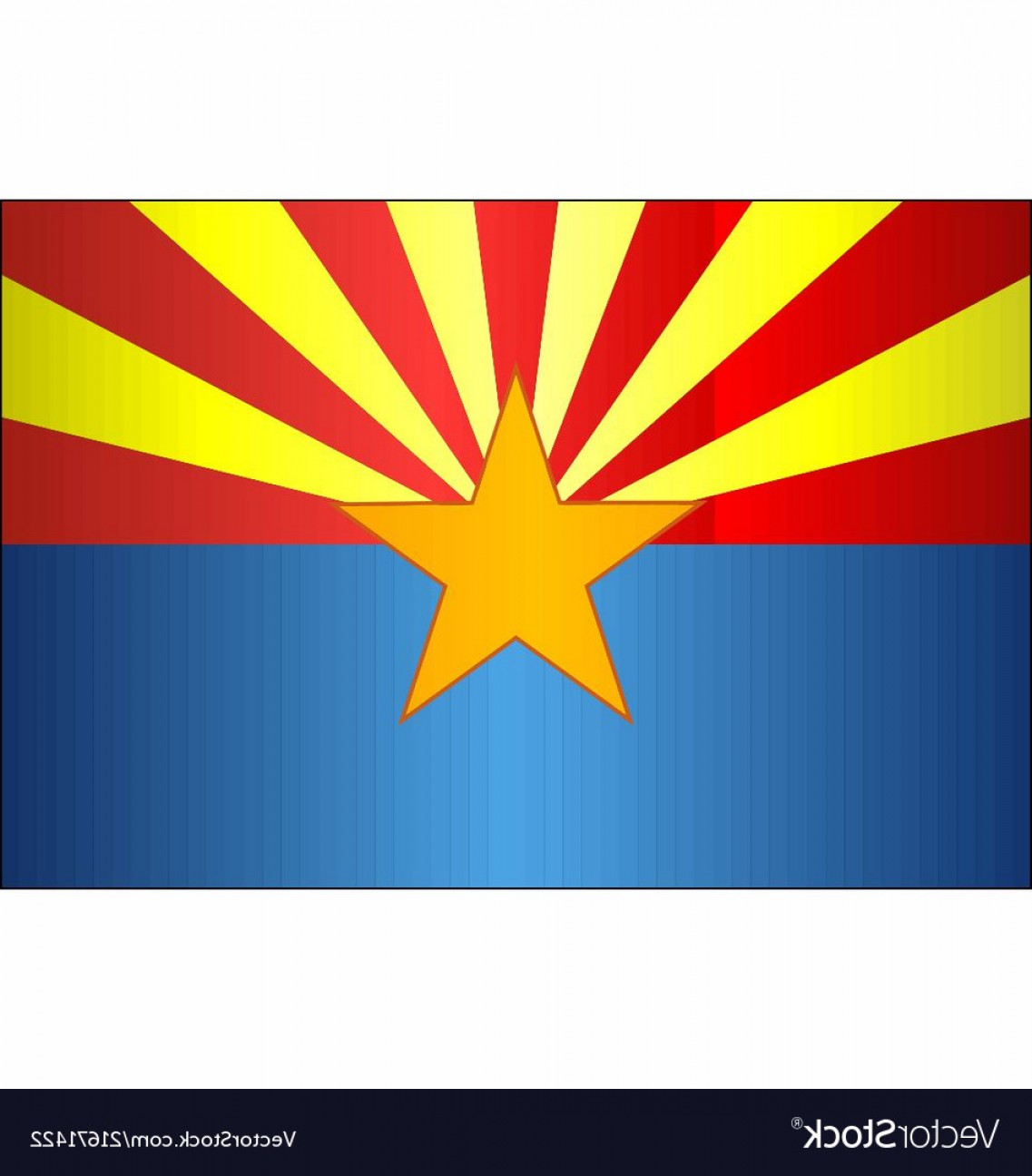 Arizona Flag Vector: Grunge Flag Of Arizona Vector