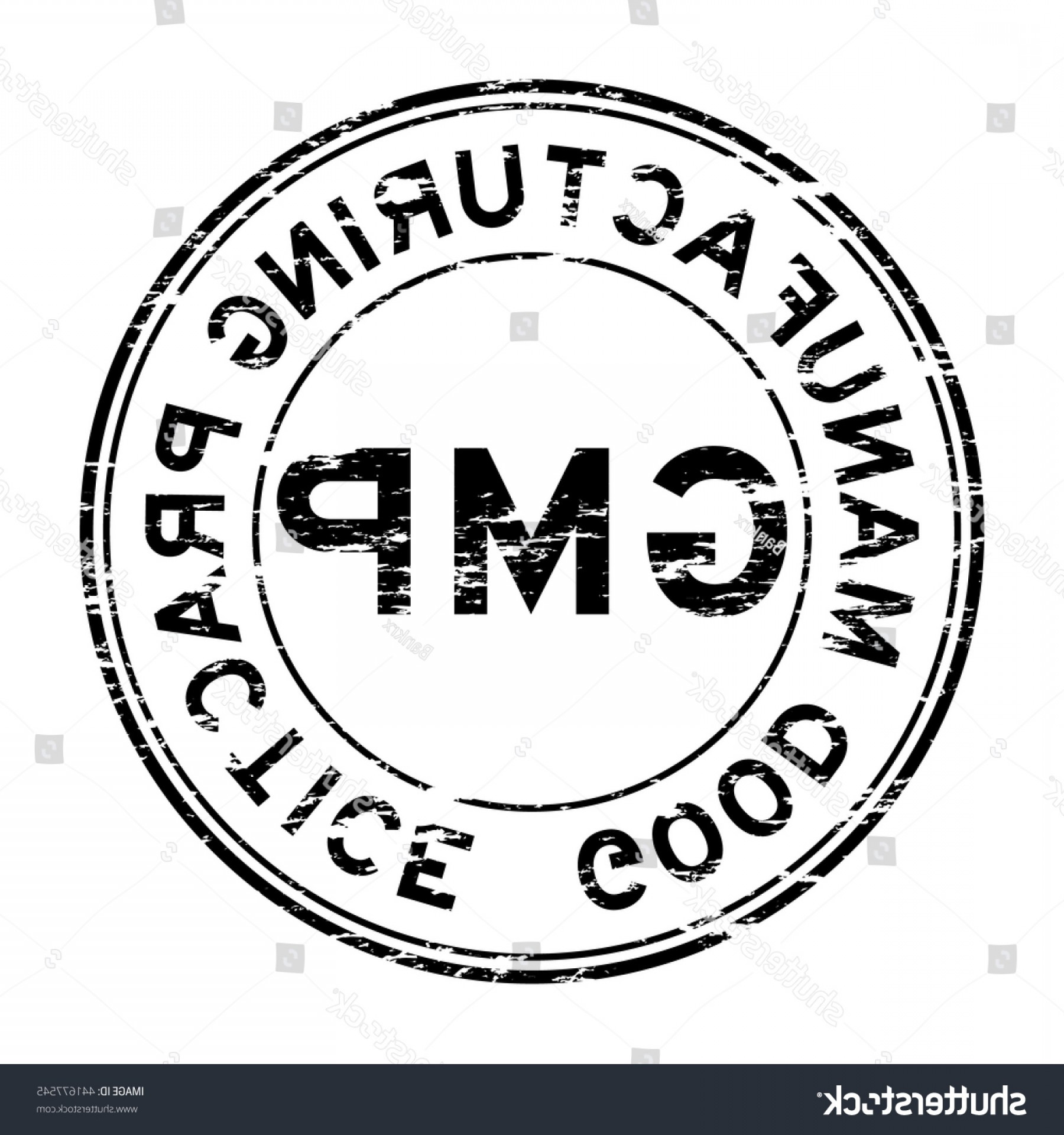 GMP Logo Vector: Grunge Gmp Good Manufacturing Practice Stamp