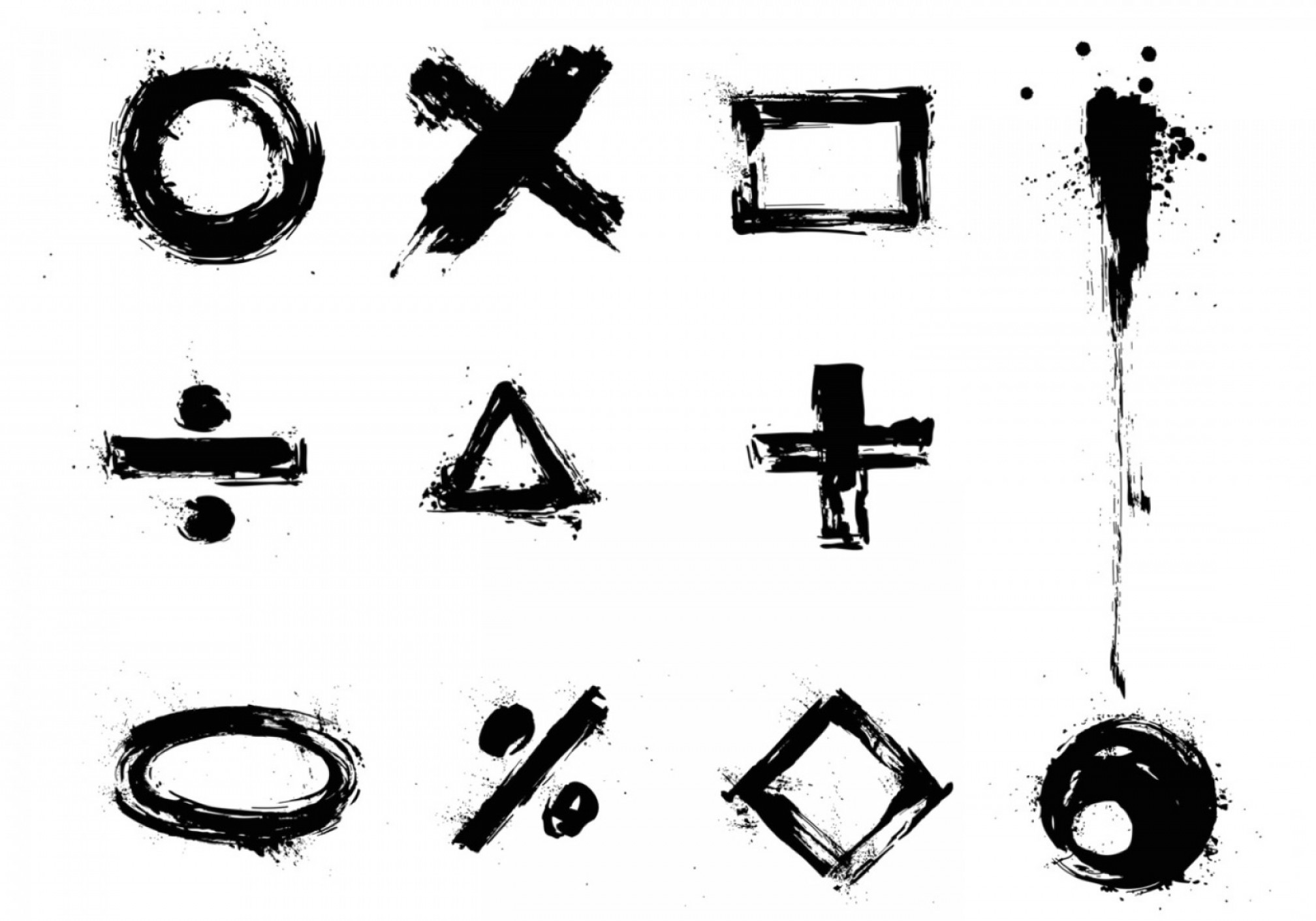 Grime Vector Pack: Grunge Vector Sign And Symbol Pack