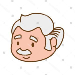 Old Male Icon Vector: Grandfather Old Person Man Male Icon
