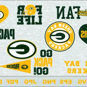 Green Bay Vector: Green Bay Skyline Linear Style Editable