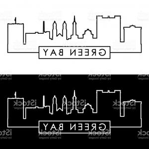 Green Bay Vector: Green Bay Skyline Linear Style Gm