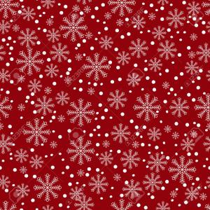 Red Christmas Pattern Vector: Green Christmas Trees On Red Background Pattern Vector Illustration Image