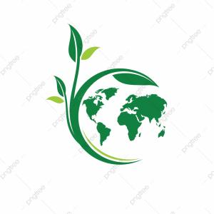 Vector Energy Organics: Green Leafs And Globe Eco Icon Unique Global And Natural Organic Logotype Design Template