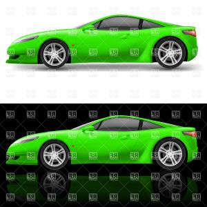 Sports Car Vector Logo: Green Sport Car Vector Clipart