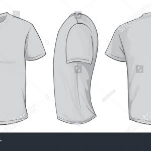 Vector Grey Shirt: Grey Vector Males Females Vneck Tshirt
