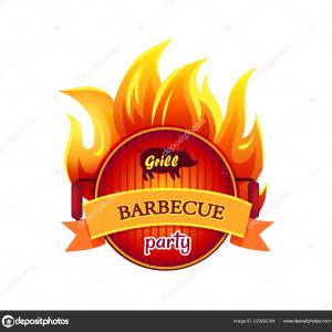 Vector Fire Grill: Grill Fire Bbq Time Barbecue Vector Illustration Image