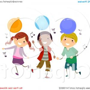 Dancing Musical Notes Vector: Stock Illustration Colorful Notes With Woman Silhouette