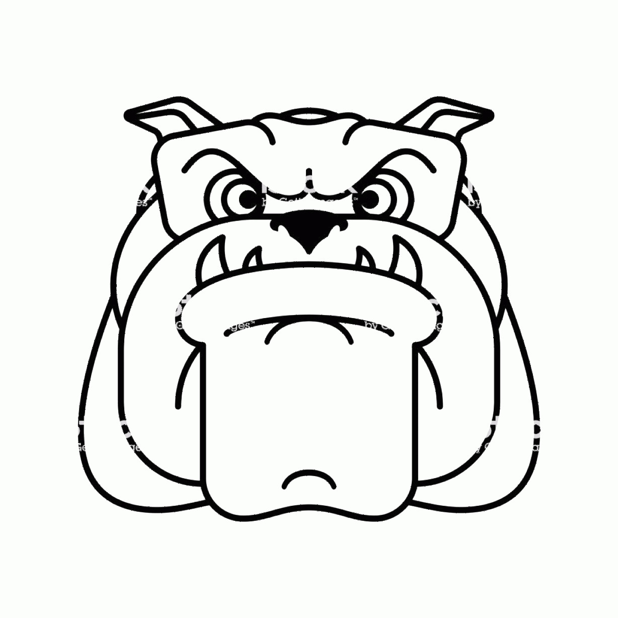 Angry Dog Vector Black And White: Guard Dog Face Angry Dog Head Sign Vector Illustration Gm