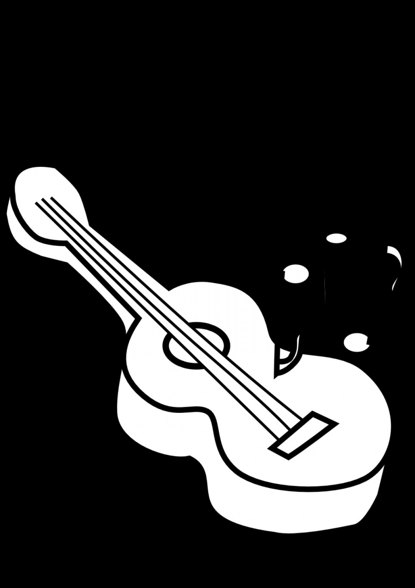 Vector Guitar Clip Art Black And White: Guitar Clip Art Black And White