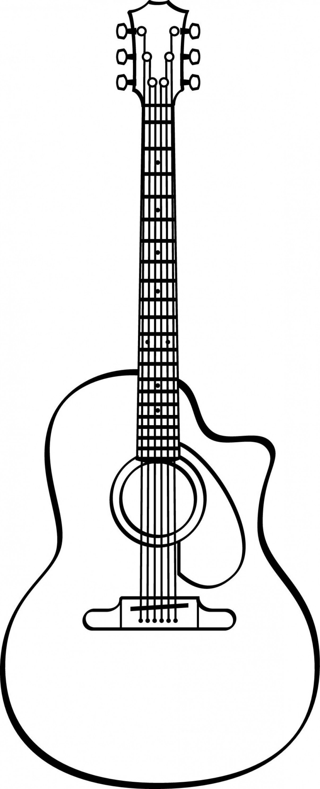 Vector Guitar Clip Art Black And White: Guitar Svg Guitar Vector Guitar Clipart