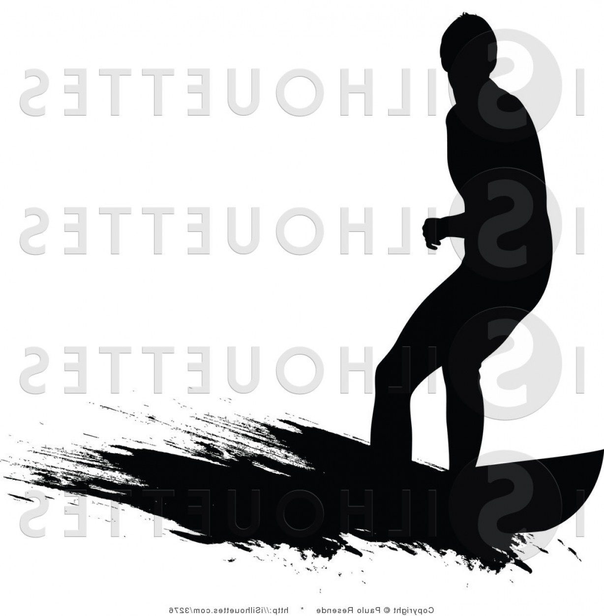 Male Silhouette Vector Art: Guy Surfing Ocean Waves Royalty Free Vector Silhouette Illustration By Paulo Resende