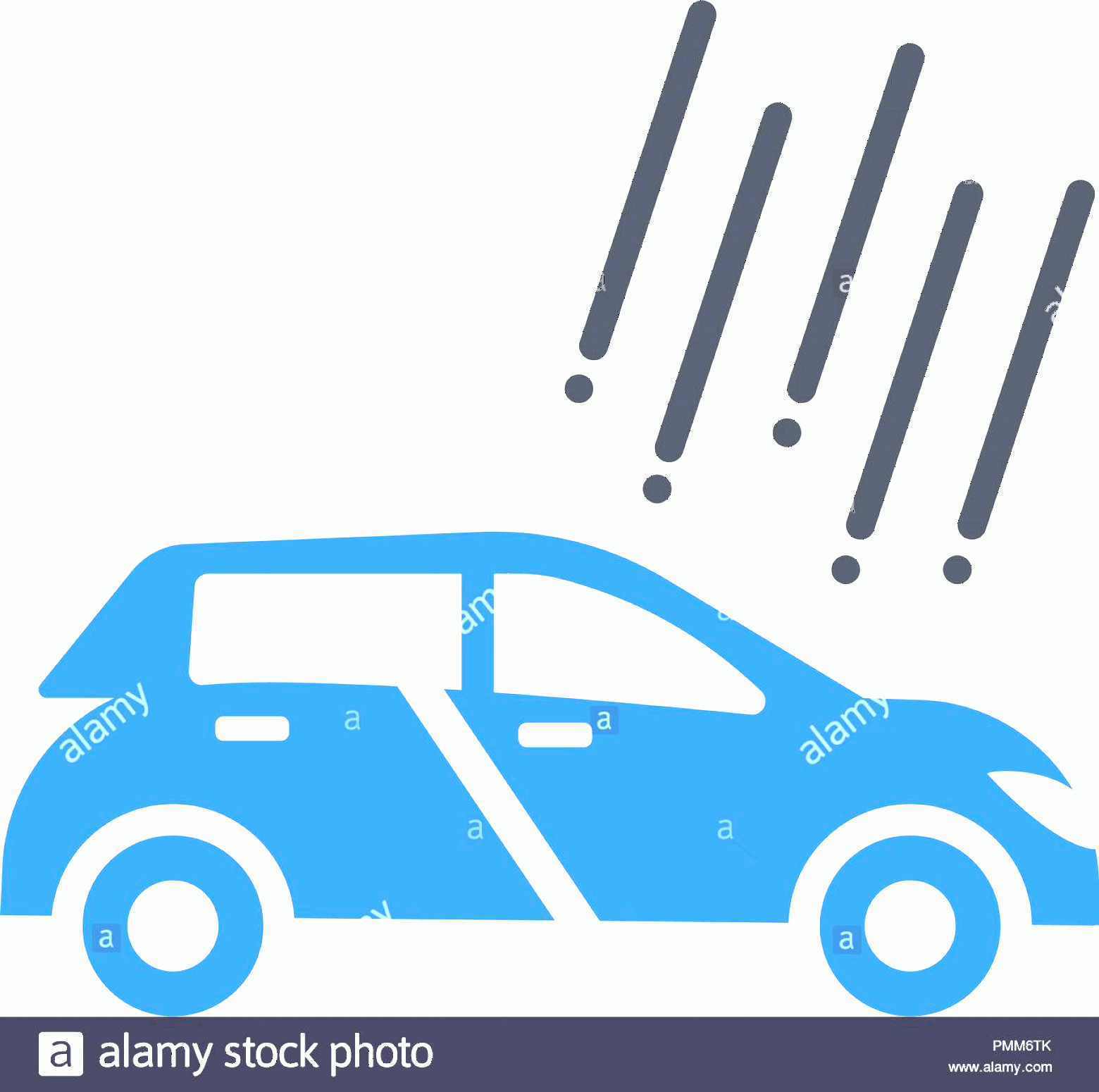 Vector Car: Hail Damage Insurance Icon Vector Car Hail Damage Insurance Glyph Style Blue Image