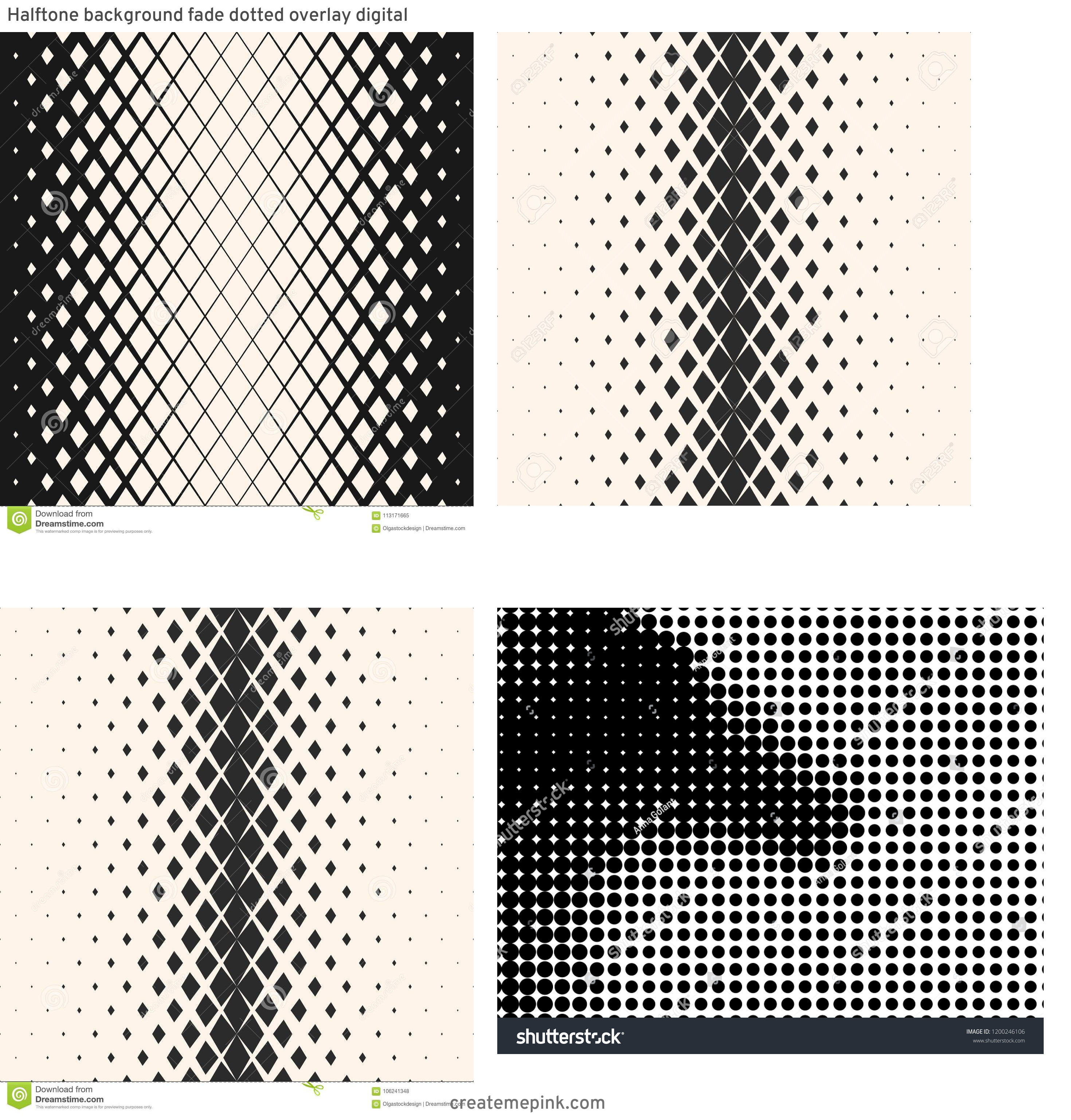 Modern Fading Vector Pattern: Halftone Background Fade Dotted Overlay Digital