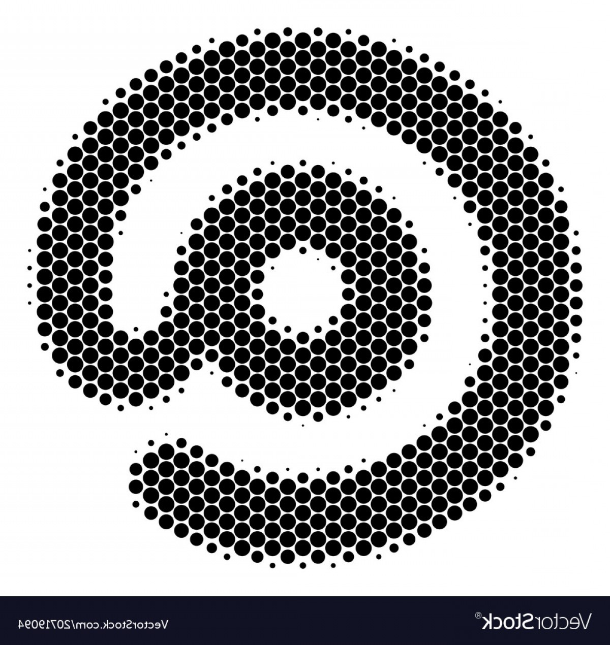 Small Email Icon Vector: Halftone Dot Email Symbol Icon Vector