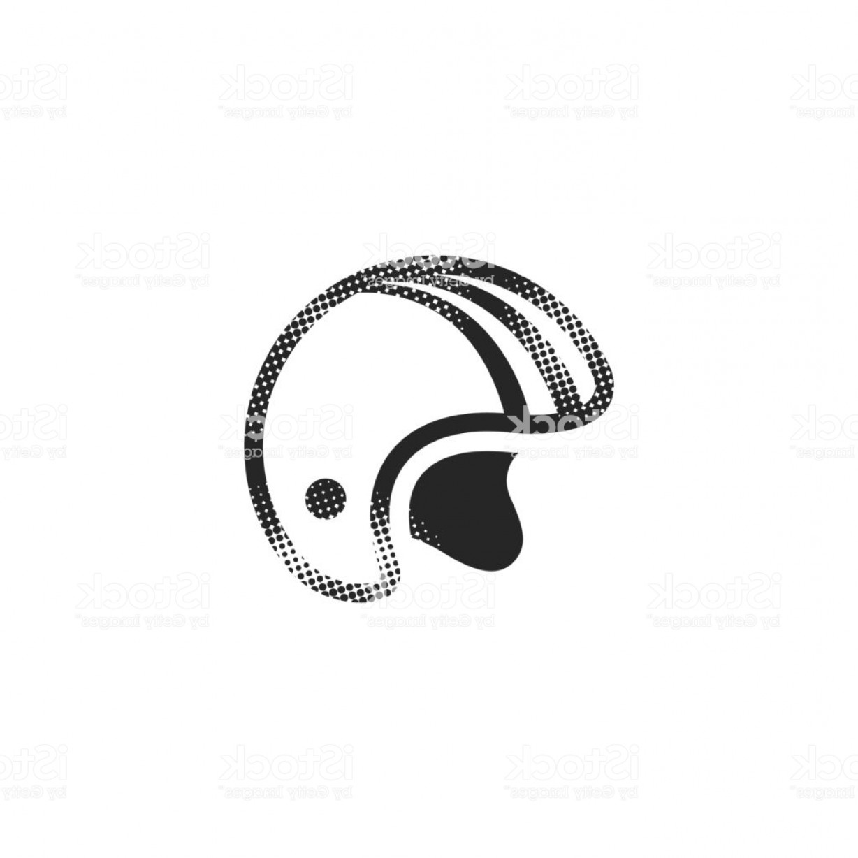 Motorcycle Helmet Vector Art: Halftone Icon Motorcycle Helmet Gm