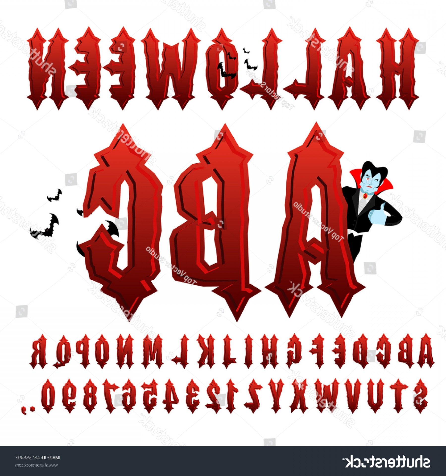 ABC News Logo Vector: Halloween Abc Blood Gothic Letters Ancient