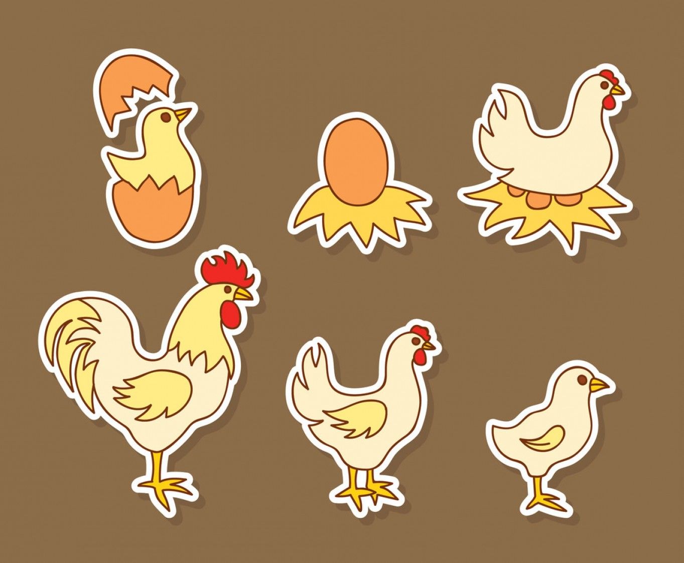 Poultry Vector Art: Hand Drawn Chicken Nest Vector