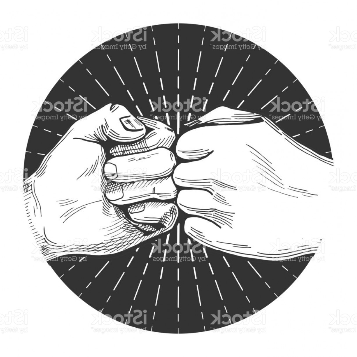 Emoji Fist Bump Vector Graphic: Hand Drawn Fist Bump Gm