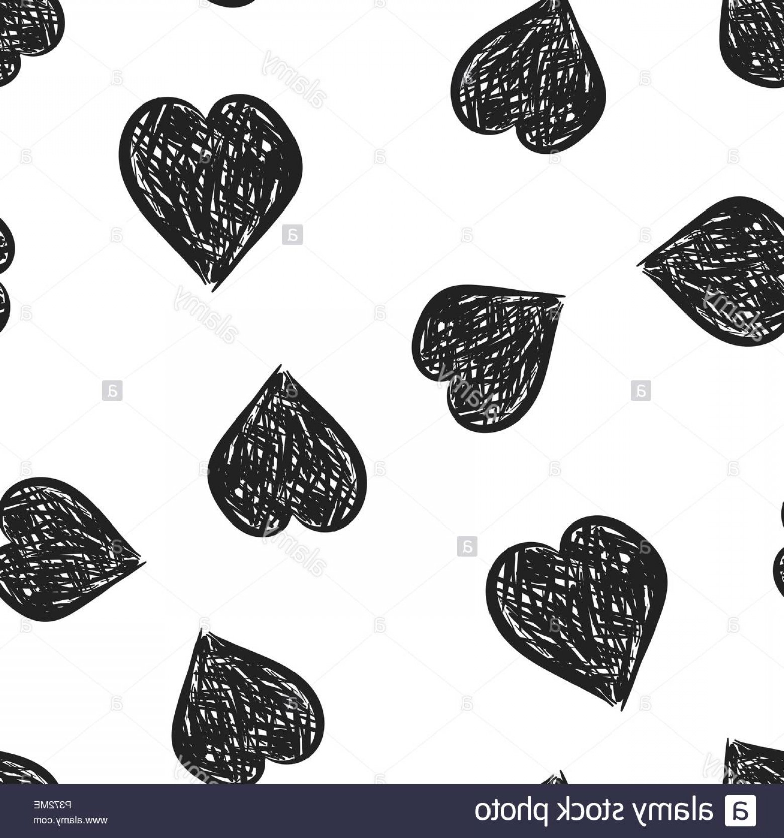 Cool Vector Hearts Pattern Symbol Pattern: Hand Drawn Hearts Icon Seamless Pattern Background Business Concept Vector Illustration Love Sketch Doodle Heart Symbol Pattern Image