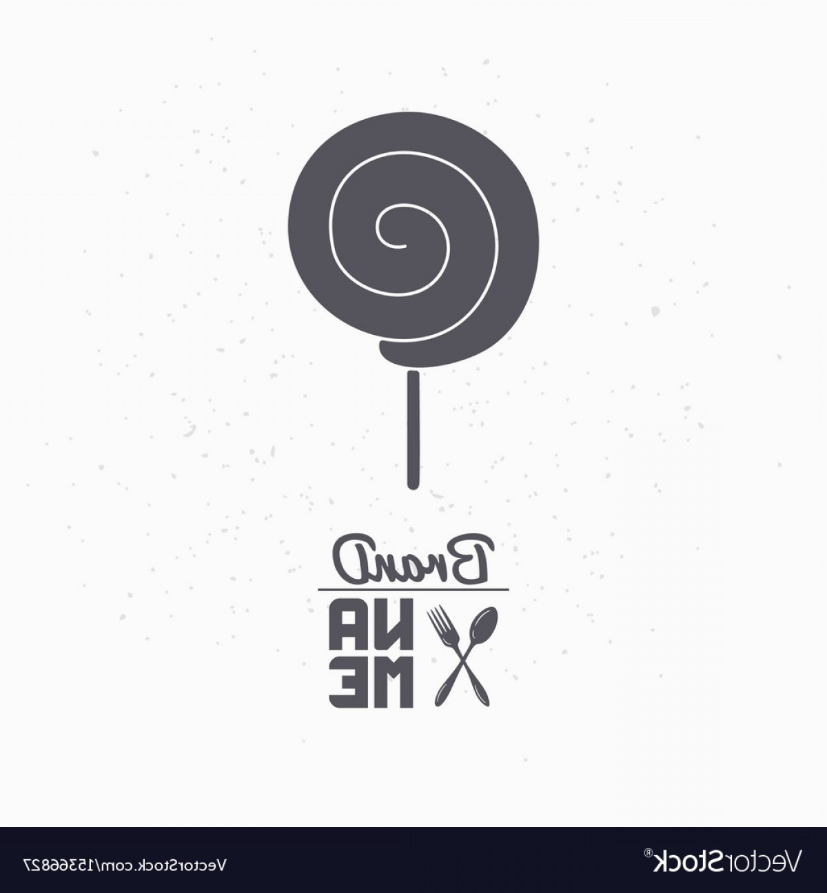 Lollipop Vector Silhouette: Hand Drawn Silhouette Of Lollipop Vector