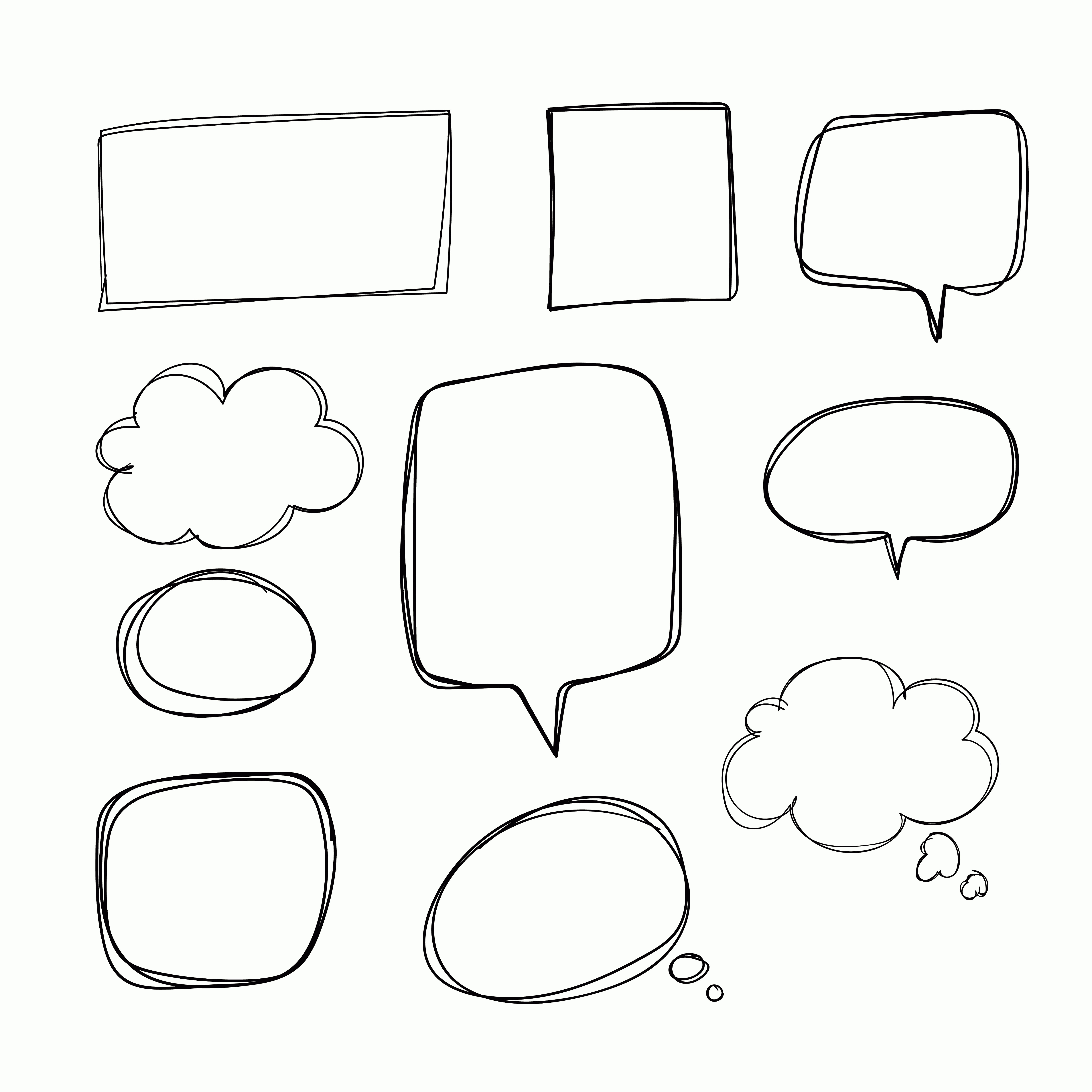 Thought Bubble Vector Sketch: Hand Drawn Speech Bubble Vector Free