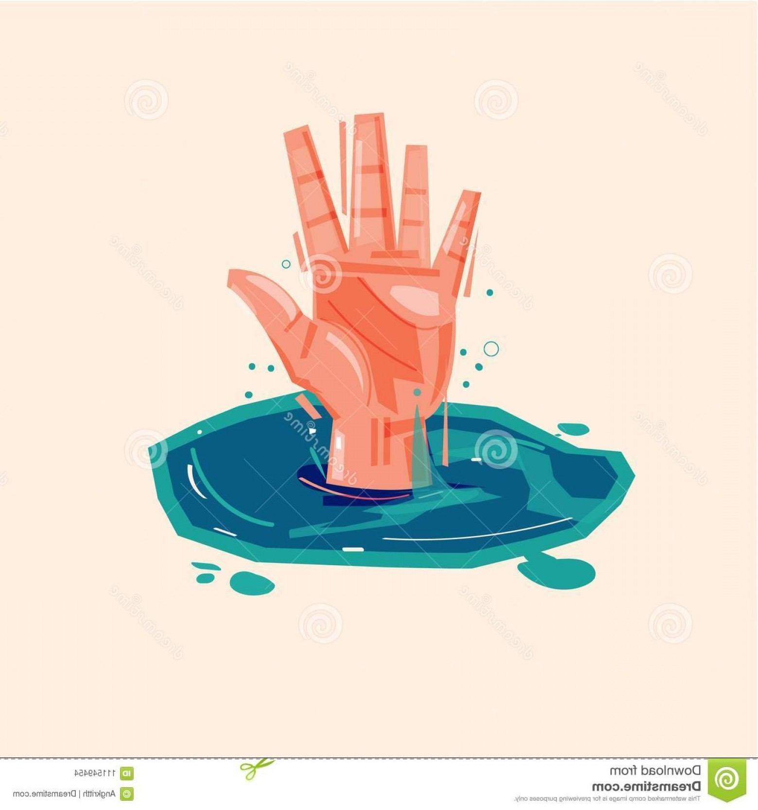 Man Drowning Vector: Hand Drowning Man Water Asking Help Vector Illustration Hand Drowning Man Water Asking Help Vector Image