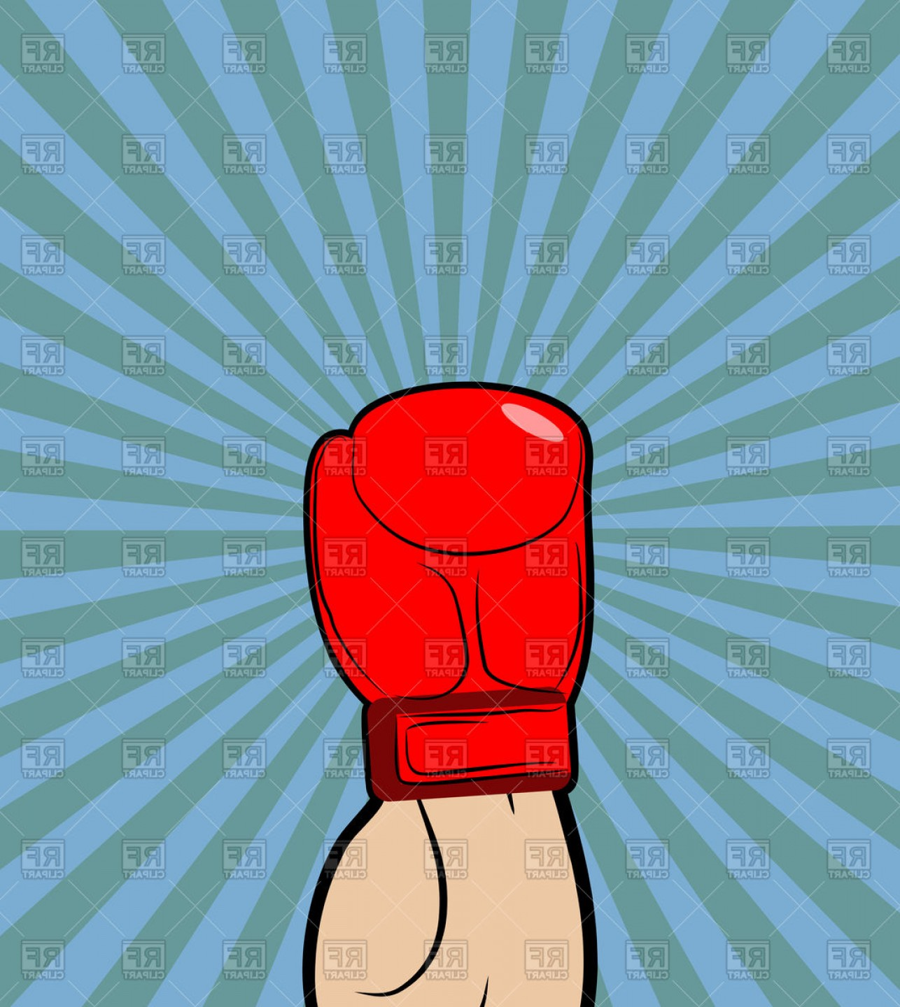 Boxing Gloves Vector Clip Art: Hand In Boxing Glove Vector Clipart
