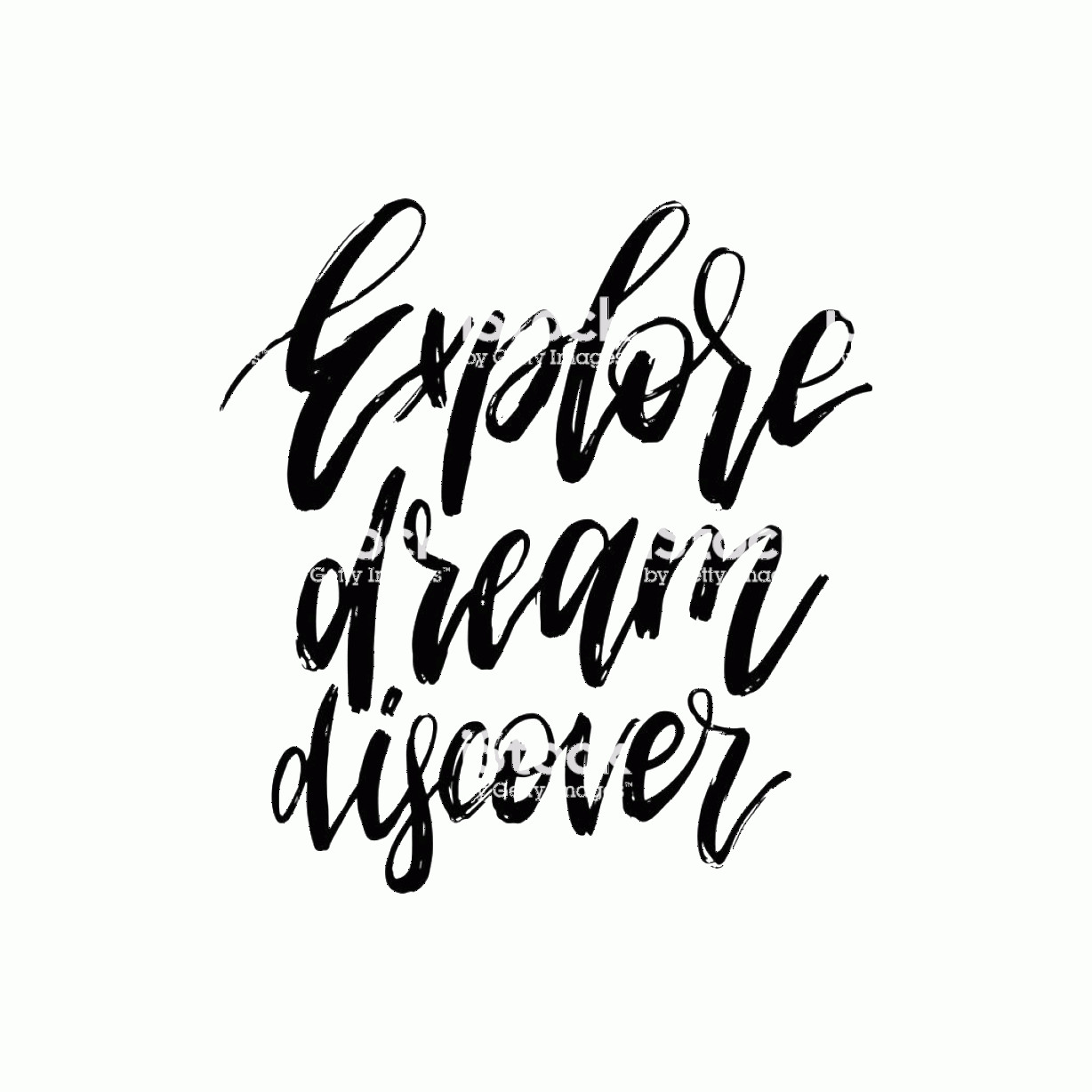 Discover Card Logo Vector: Hand Lettering Explore Dream Discover Vector Calligraphy Illustration For Gm