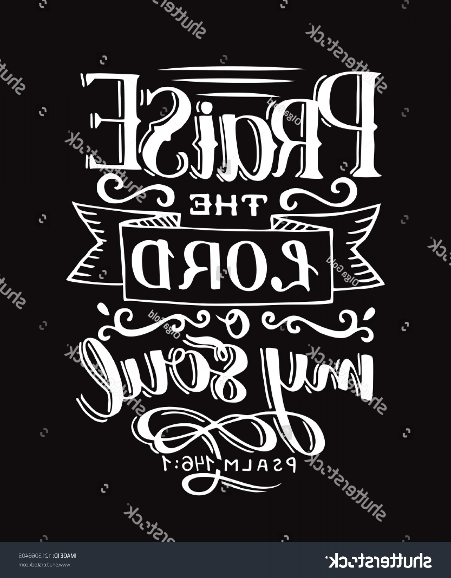 Then Sings My Vector: Hand Lettering Praise Lord O My
