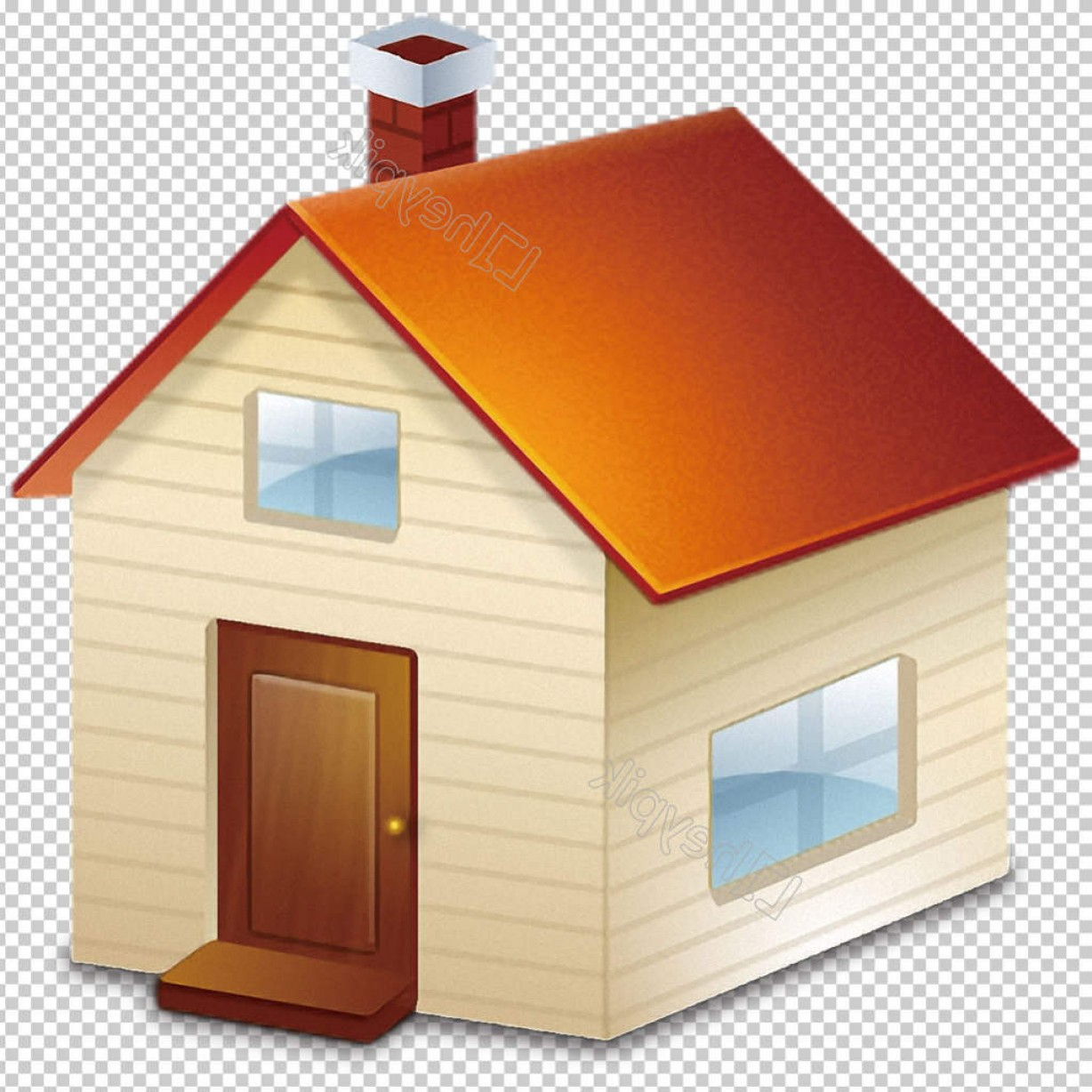 Shed PNG Vector: Hand Painted Cartoon House Icon Free Png Transparent Layer Design