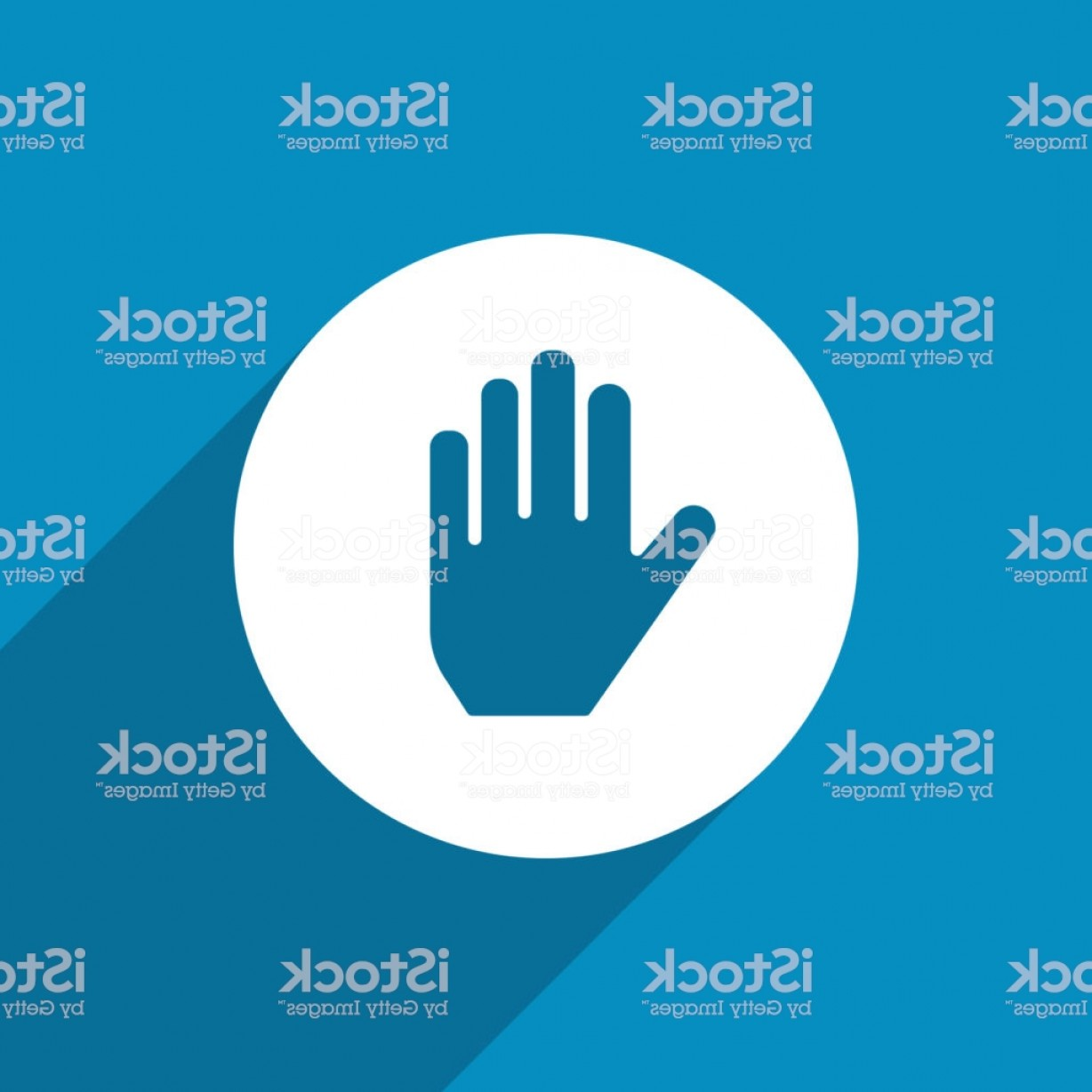 Hand Stop Vector Teal: Hand Stop Web Icon Design Gm