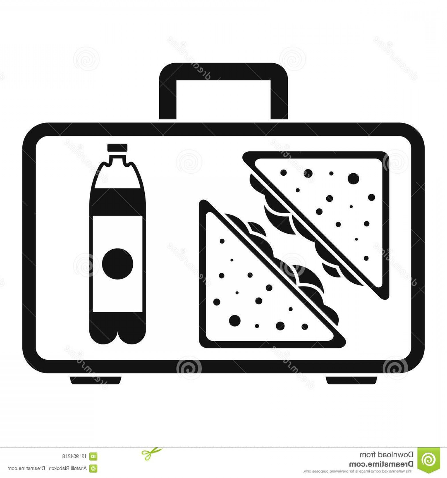 L Unch Icon In Vector: Handbag Lunch Icon Simple Illustration Handbag Lunch Vector Icon Web Design Isolated White Background Handbag Lunch Icon Image