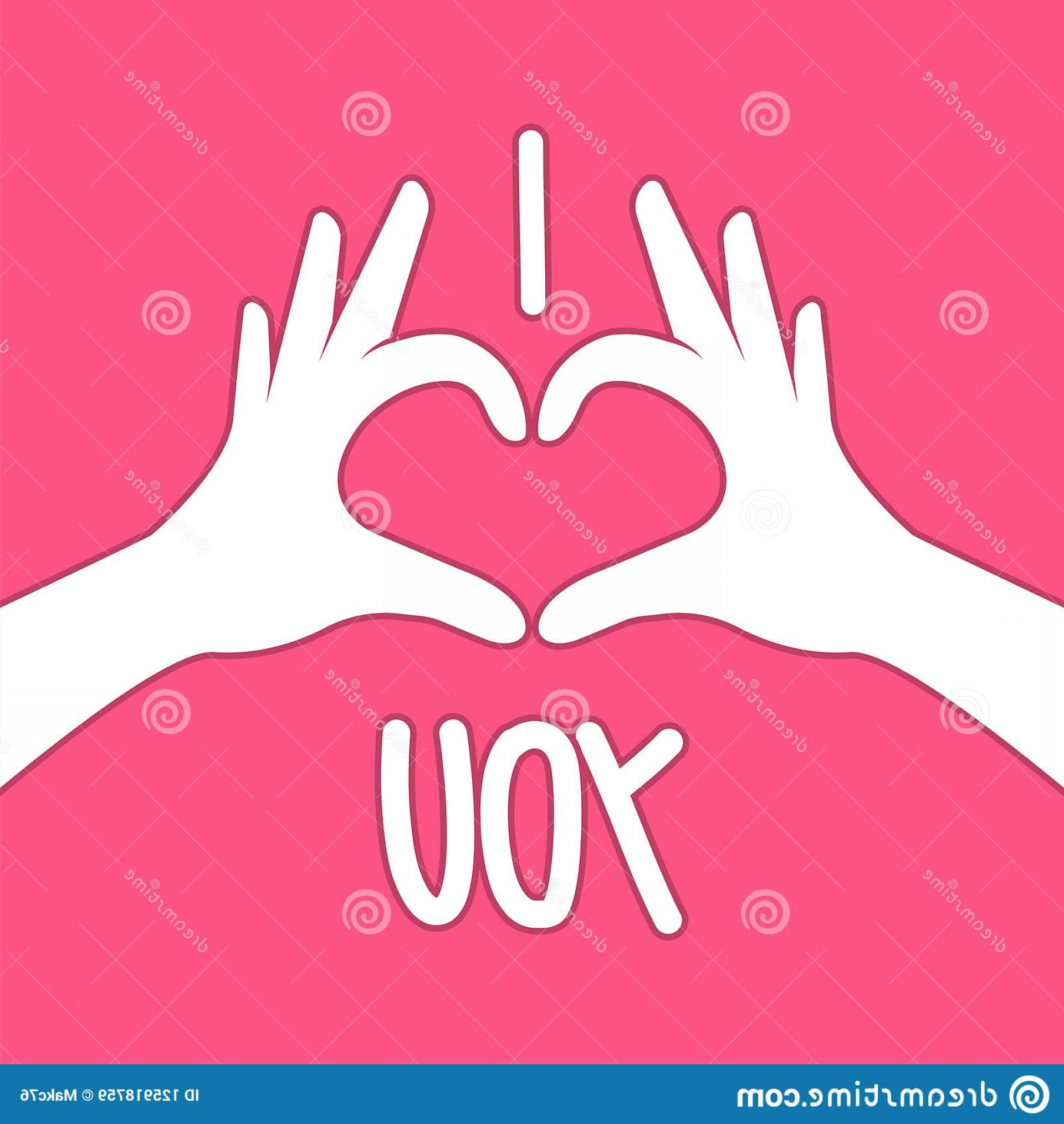 Vector Vector Heart Shaped Hands: Hands Making Heart Shape Hands Making Heart Shape Valentines Day Vector Illustration Image