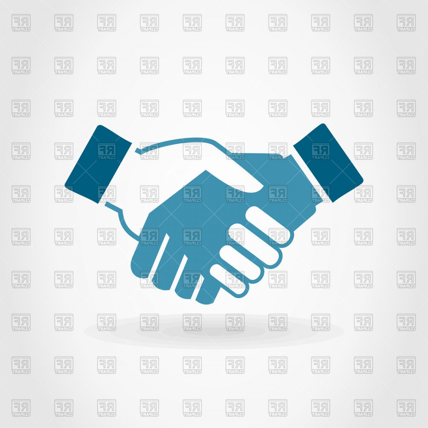 Handshake Clip Art Vector: Handshake On Grey Background Vector Clipart