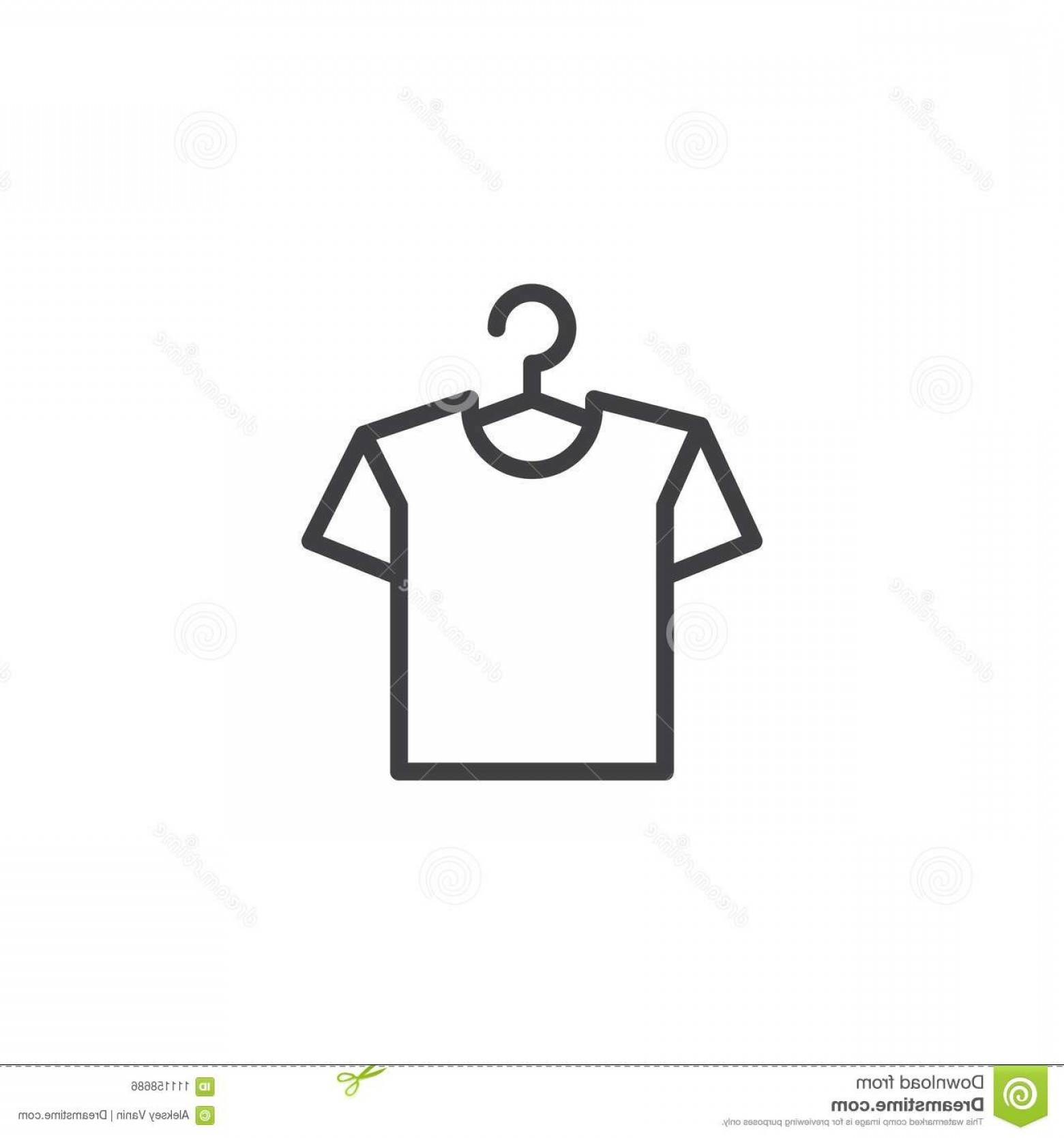 Shirt Hanger Icon Vector: Hanger Shirt Outline Icon Linear Style Sign Mobile Concept Web Design T Shirt Hanger Simple Line Vector Icon Image