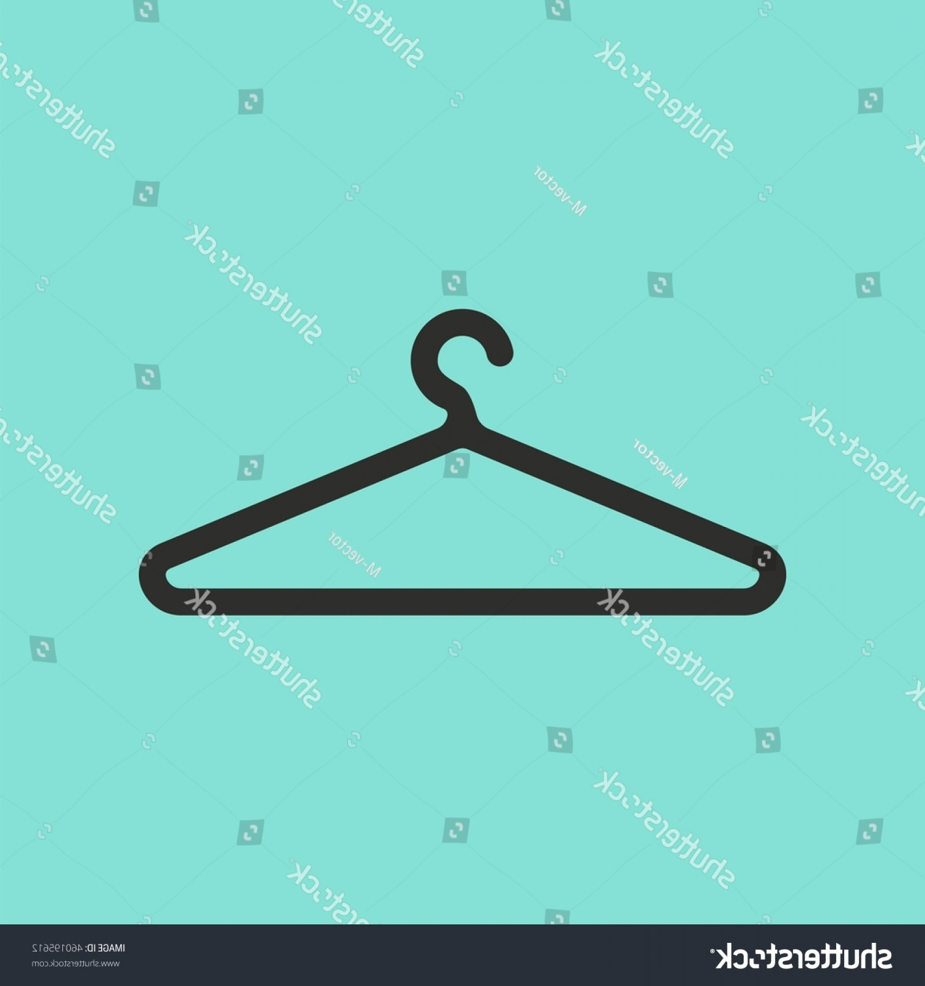 Shirt Hanger Icon Vector: Hanger Vector Icon Black Illustration Isolated