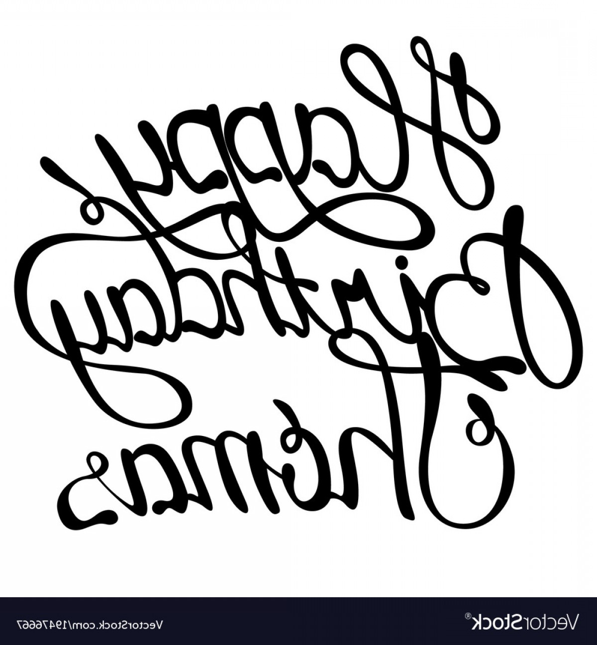 Thomas And Thomas Vector: Happy Birthday Thomas Name Lettering Vector