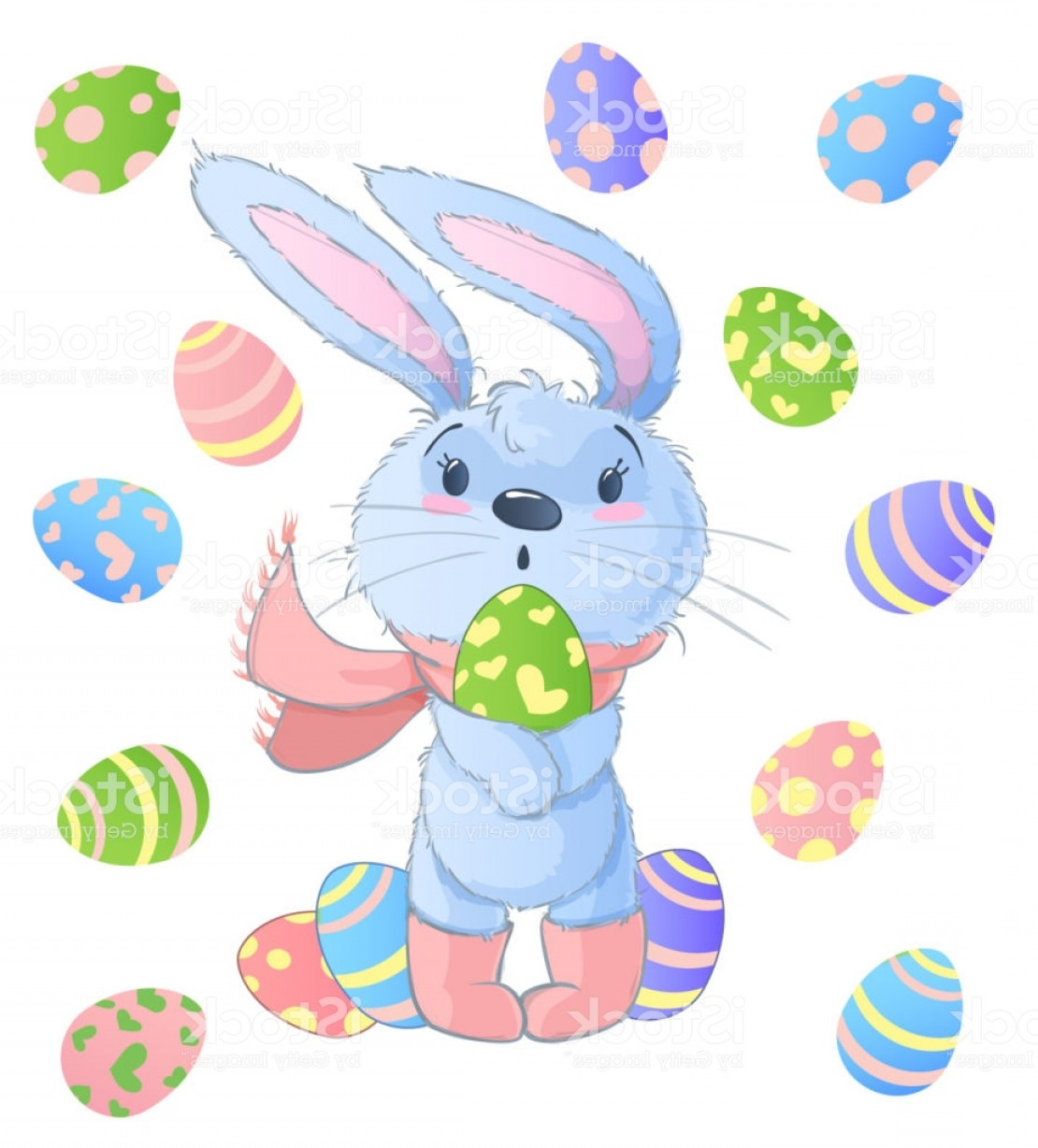Image Vector Clip Art Bunny Bunny: Happy Easter Bunny Vector Illustration Clipart Set For Easter Greeting Card Gm