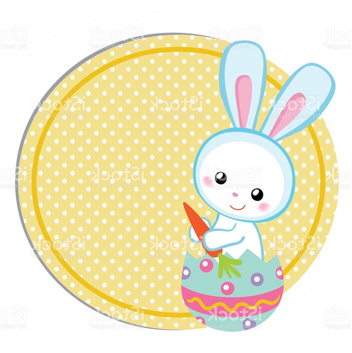 Vector Easter Rabbit Face: Happy Easter Cute Easter Bunny Sitting In Egg Gm