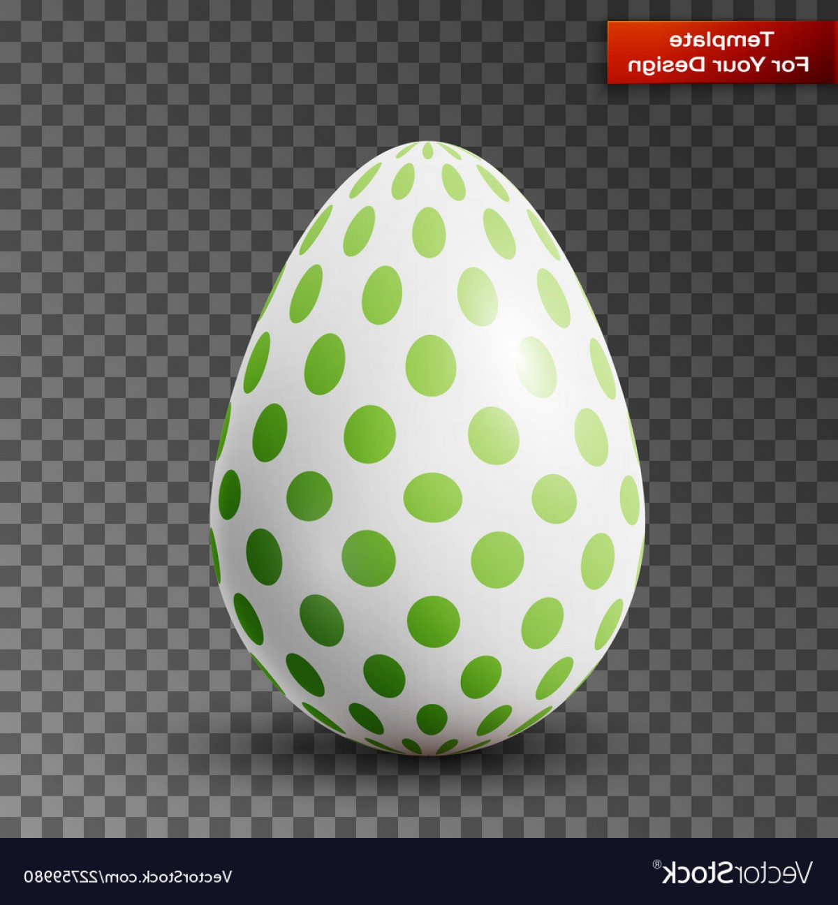 Easter Vector No Background: Happy Easter Egg On Transparent Background Vector