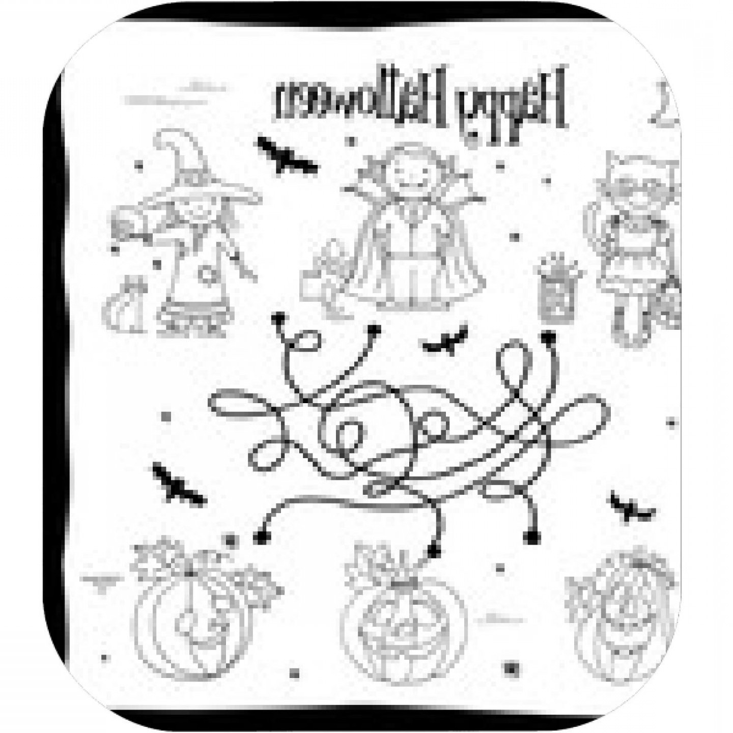 Vector Coloring Sheet: Happy Halloween Coloring Sheet With Labyrinth Kids In Costumes And Pumpkins Hand Drawn Vector Illustration