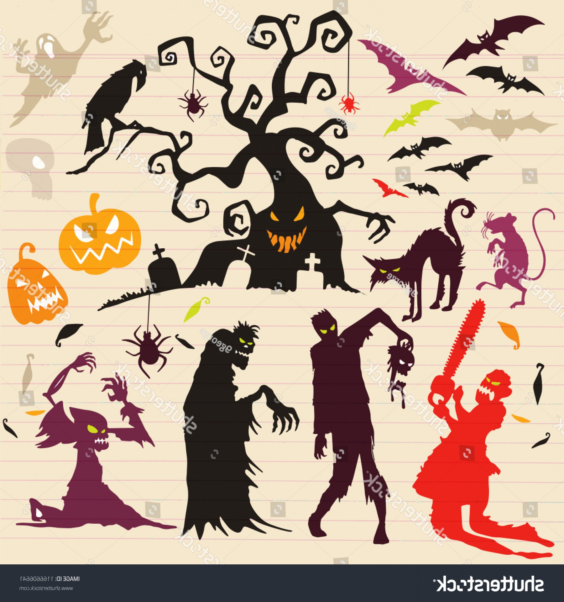 Wizard Silhouette Vector: Happy Halloween Magic Collection Witch Wizard