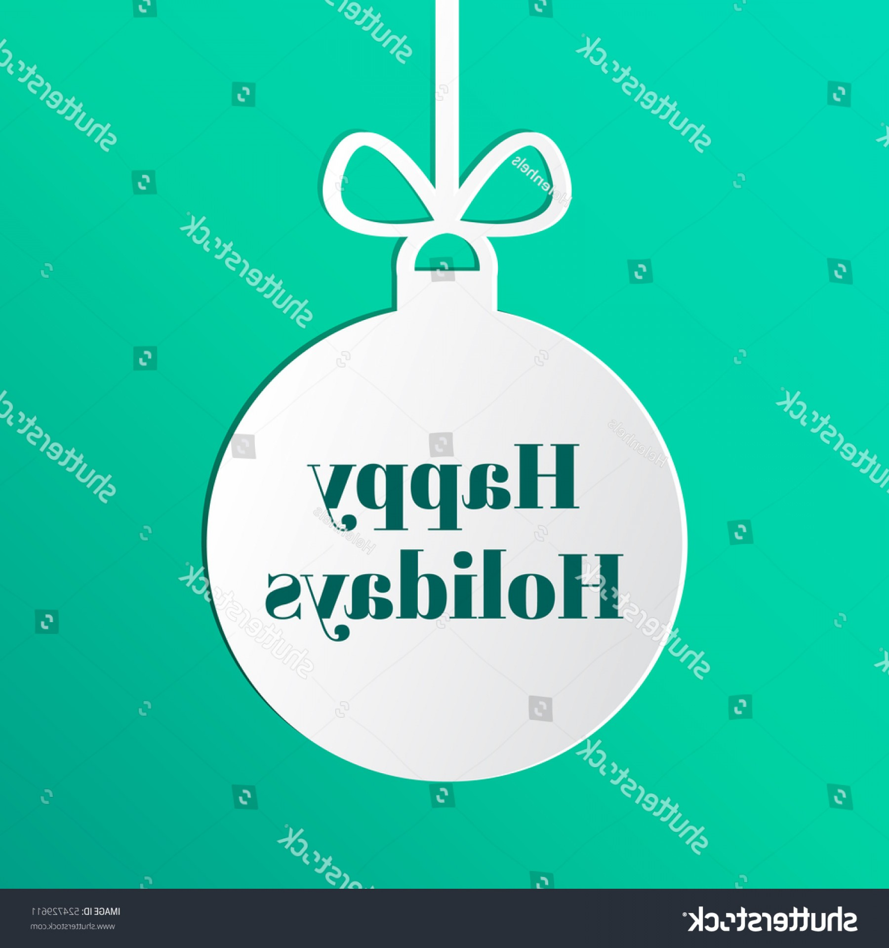 Vector Silhouette Happy Holidays: Happy Holidays Tag On Silhouette Christmas