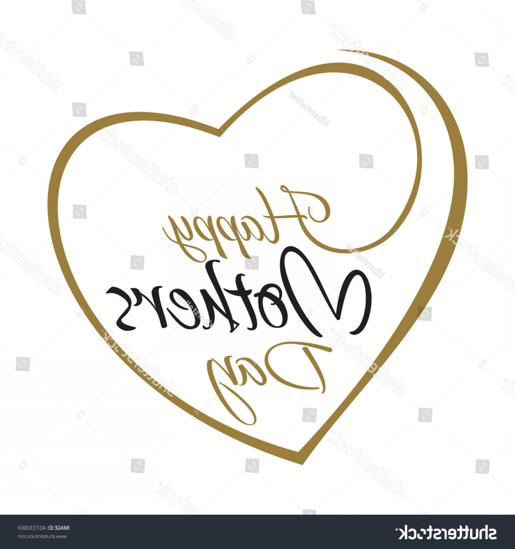 Hand Lathe Vector: Happy Mothers Day Hand Lettering On